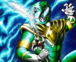 Green Ranger Card Commission by kaijukid