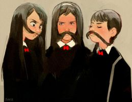 Girlstache by Barukurii