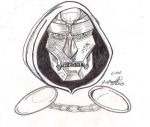 Day 6 of 100 Drawings: Dr Doom Sketch by Punch-line-designs