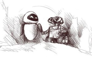 WALL-E Fanart Rough by K-van