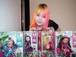 Ever After High Dolls Madeline Raven Apple Briar by cherrybomb-81