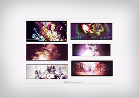 Signature pack PSD. by sm0kiii