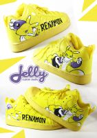 Renamon Fan Sneakers by PoppinCustomArt