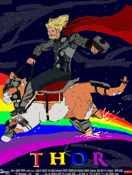 Fight Thor your right to party by VonPatrickStudios