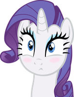 Blushing Rarity Vector by ShadowWeaver97