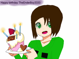 Happy Birthday TheEnderBoy3333 by PhantomSpiritt