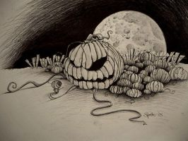 entering the pumpkin patch by Spuddicus