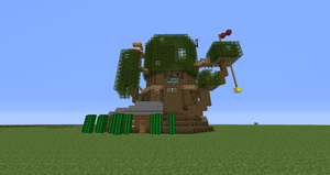 Adventure time tree fort minecraft model by SHOOPDAGUY
