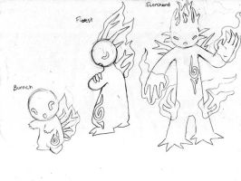 Fakemon- forest fire by JoshuaDunlop