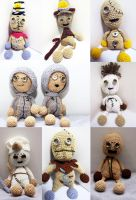 Tim Burton and Shane Acker's 9 Stitchpunk dolls by Nissie