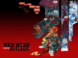 Wallpaper of RED HOOD AND THE OUTLAWS by clampgana