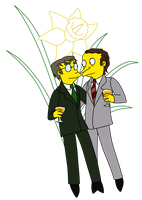 TS - Monty Burns and Waylon Smithers Sr. by gabrielcic