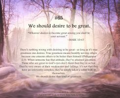 Bible Refresher 49 - What is Greatness? by PoppyCorn99