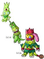 My grass starter and evos by dainton1