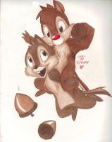 Chip n Dale by Phoelion