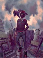 Eve, Guardian of the Rooftops by TheObliviousOwl