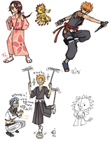 even more bleach doodles by emlan