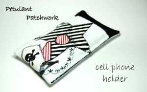 Petulant Patchwork cell holder by tinkelstein