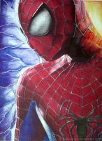 Spiderman Ballpointpendrawing by ATCdrawings