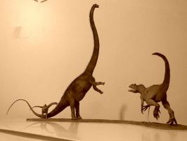Barosaurus vs Allosaurus 1:40 by GalileoN