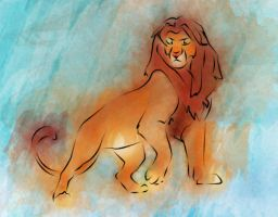Simba Watercolor by LizzieFresh