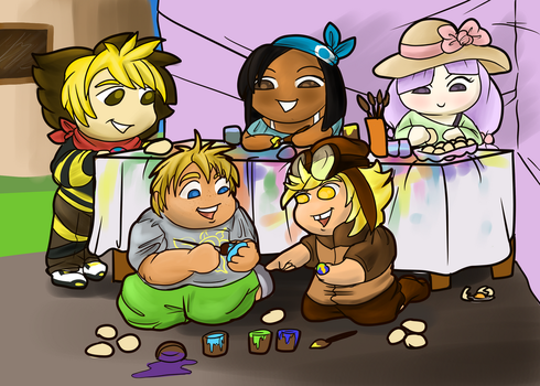 Painting Eggs -PTS- by lonesome-wolf-child