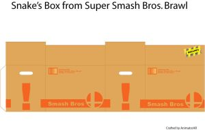 Snake's Smash Bros. Box by AnimatorAR