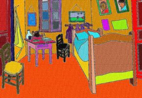 Vincent's bedroom coloured by hermitsrme