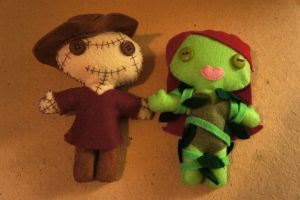 Poison Ivy and Scarecrow by chibimonkies