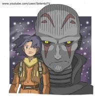 Ezra Bridger and the inquisitor by Carlos-MP