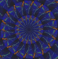 Caleidoscope blue by Rob1962