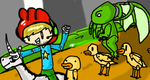 Pewds and the Duck Army (Scribblenauts) by SHP1022