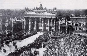 Brandenburg Gate- Berlin- Franco Prussian War 1871 by julius1880