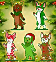 Christmas Puppy Adopts! --- $15 Each~ by AlexDachshund