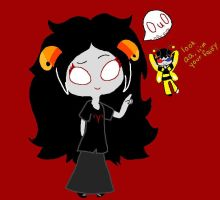 Aradia and Sollux by CobaltCorsair