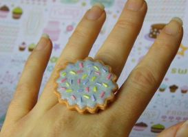 Sweet Lolita Cookie Ring by CharmingLittleFox