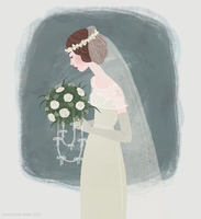 1920s Bride.. by DaiskiAnimeJ