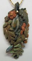 Clay and Bead Jungle Pendant by wildhorse63