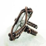 Copper and Quartz Ring by Gailavira