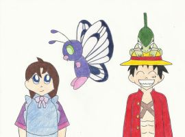 One Piece: Pocket Monster Pals by the-ocean-sings