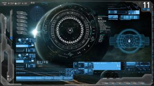 Blue Tech Future Tech Rainmeter Zerox Project by ZeroxProject