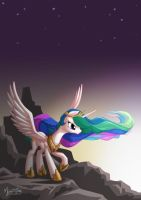 Celestia on Top by mysticalpha