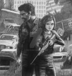 The Last Of Us Joel and Ellie by NINTR
