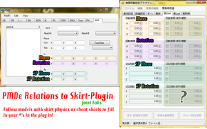 PMDe Skirt Plugin Joint Guide Comparison by MMDFakewings18