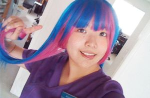 Stocking Cosplay Wig Test by Melody-in-the-Air