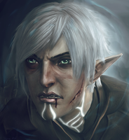 Fenris model edit portrait by Kaeriah