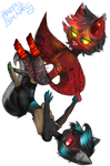 Simi and Nightmare. .:Gift:. by daddysgirl554
