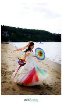 My Rainbow Wedding Dress 2nd by littlehippy