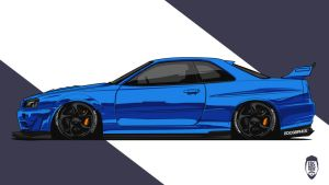GTR34 #EDCGRPHCS by edcgraphic
