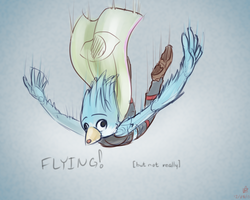 SkADa-150 W22: Fluffbird, the flightless Avian by budgiesarecool